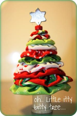 Árvore de Natal de fuxico - passo a passo