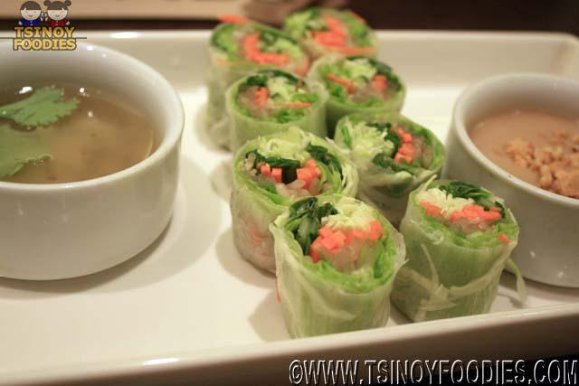 vegetable herb rice paper