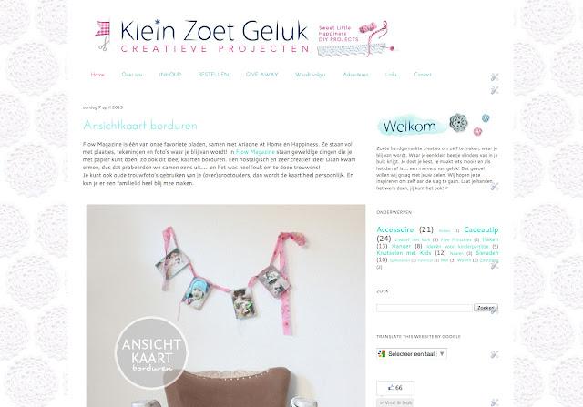 Creatief blog Klein Zoet Geluk