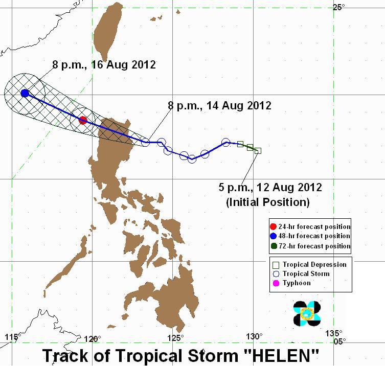 Pagasa Typhoon Helen Pagasa 8th Typhoon Helen