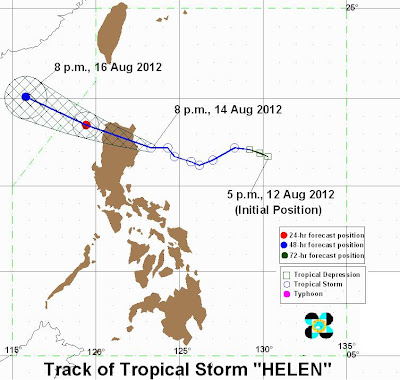 PAGASA 8th Typhoon HELEN Forecast Track and Rain Volume : GbSb