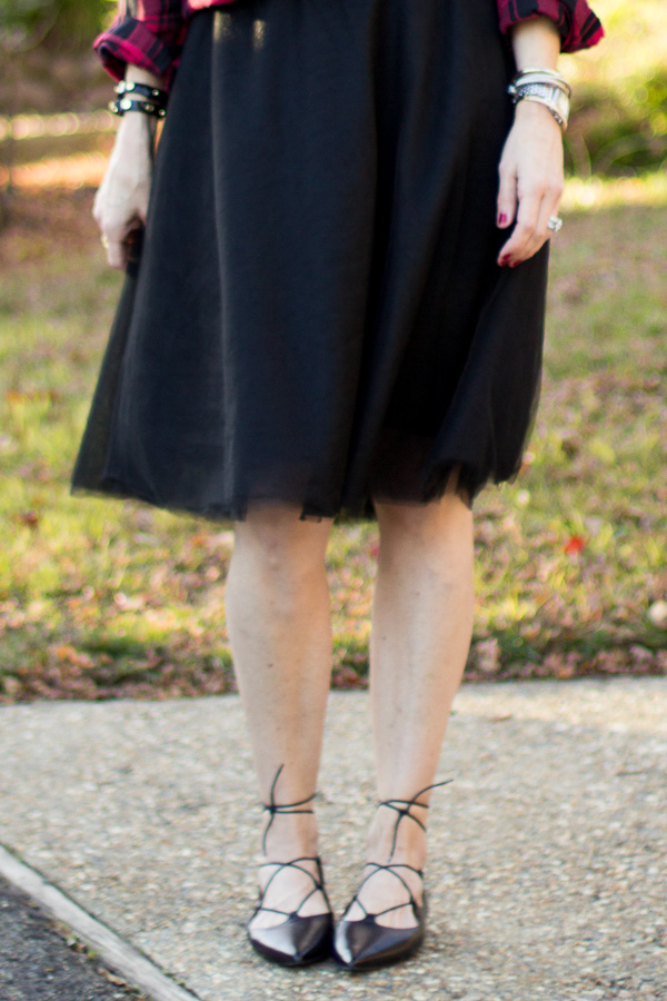 parlor girl black tulle skirt