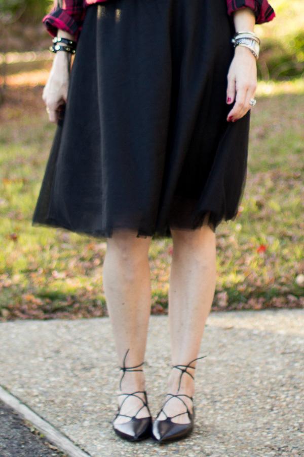 parlor girl black tulle skirt