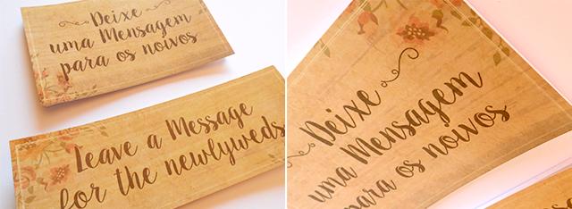 cartão para mensagens