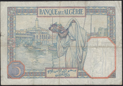 Tunisia 5 Francs  1941 P# 8b