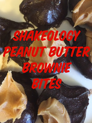 Shakeology Peanut Butter Brownie Bites