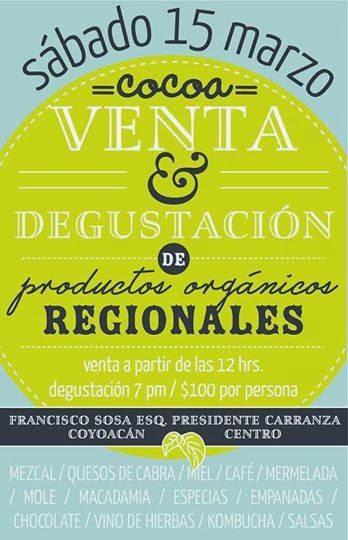 Venta y degustación de productos productos orgánicos en Coyoacán