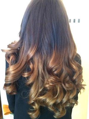 Pelo puntas colores peinados 2014