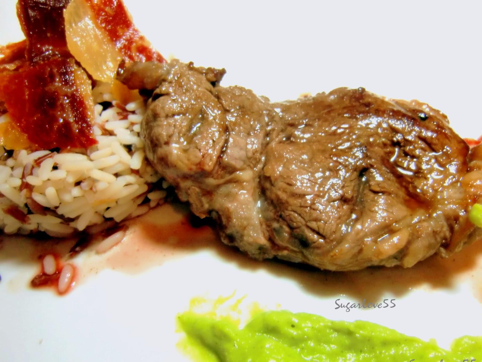 Sugarlove55 solomillo de ternera con salsa mostaza de - Solomillo de ternera al horno con mostaza ...