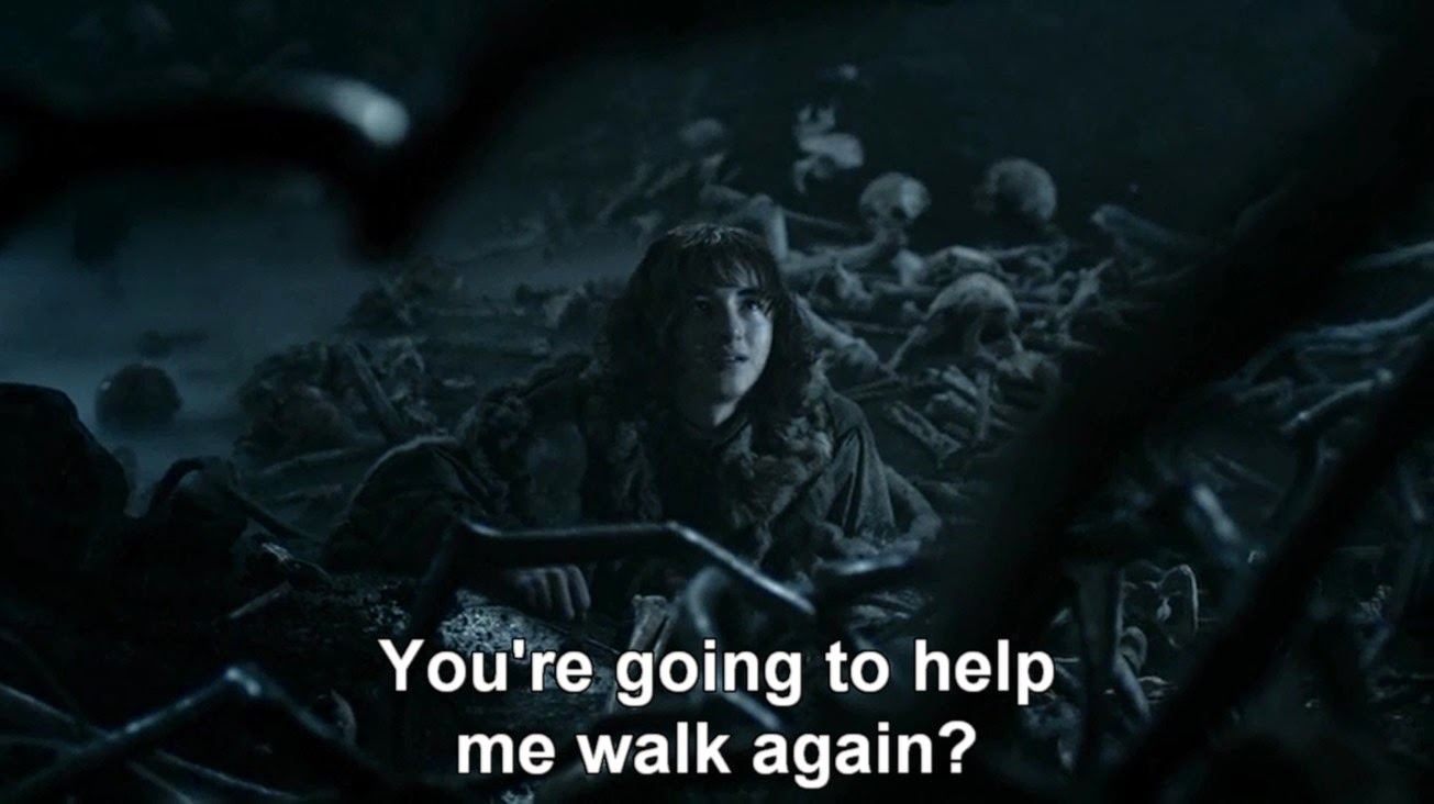 HBO Game of Thrones s04e10: Brandon in the cave