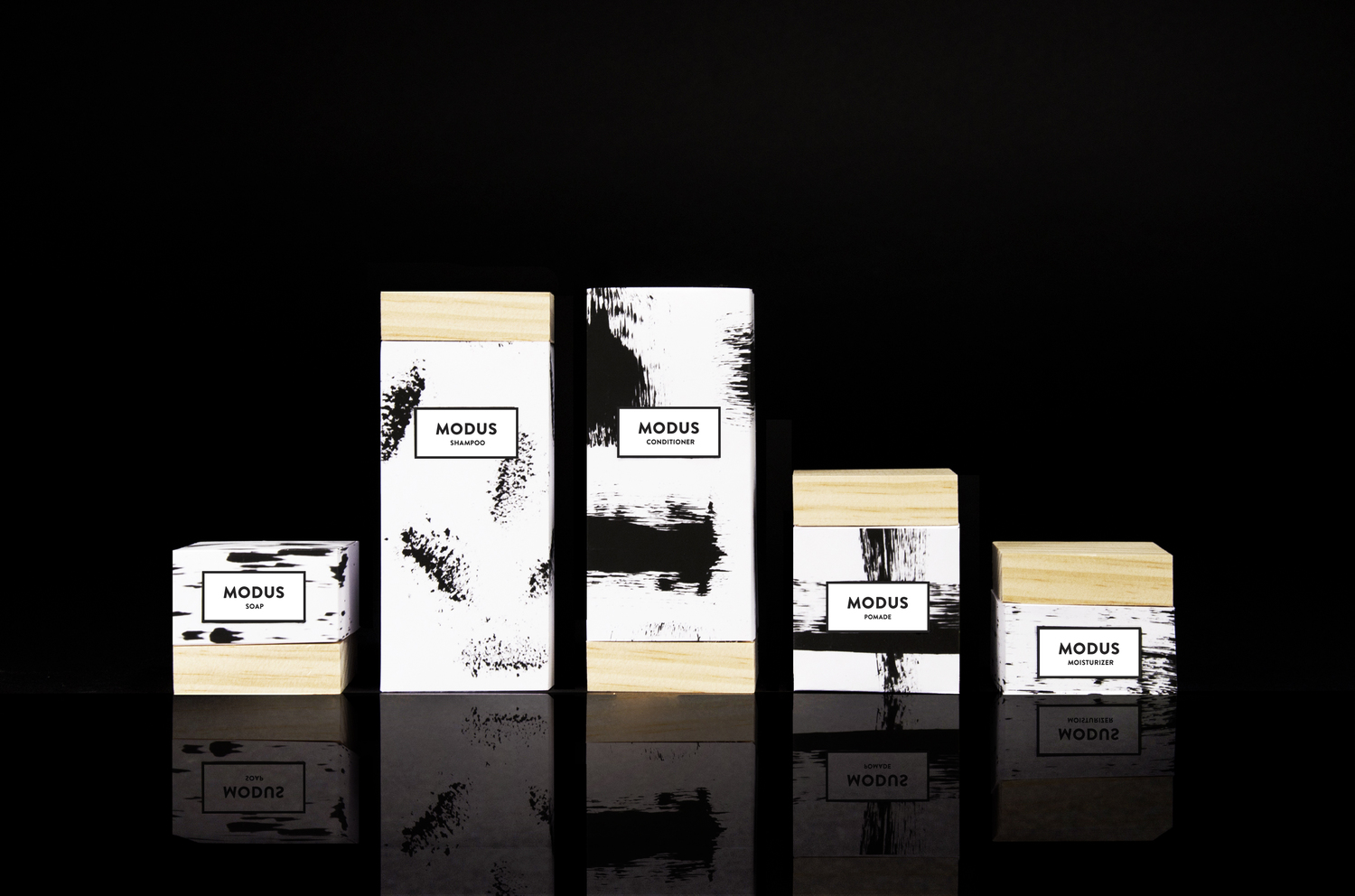 Modus student project on packaging of the world for Modus design shop