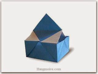 Cách gấp, xếp hộp quà có nắp cầm bằng giấy origami cho sinh nhật, valentine, lưu niệm - Video hướng dẫn xếp hình trái tim quà tặng - How to fold a mini case