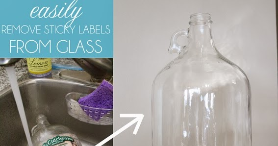 how to remove sticky labels from glass. Black Bedroom Furniture Sets. Home Design Ideas