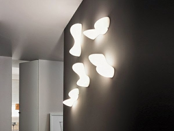 33 cool ideas for led ceiling lights and wall lighting fixtures 2018 decorative led lights black wall with five eye catching wall lamps aloadofball Images
