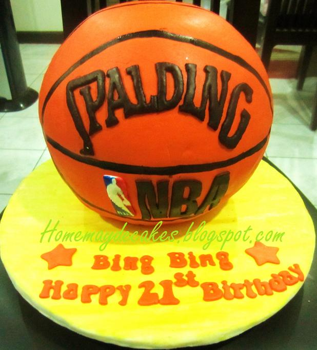 Home Mayde Cakes The Making Basketball Cake