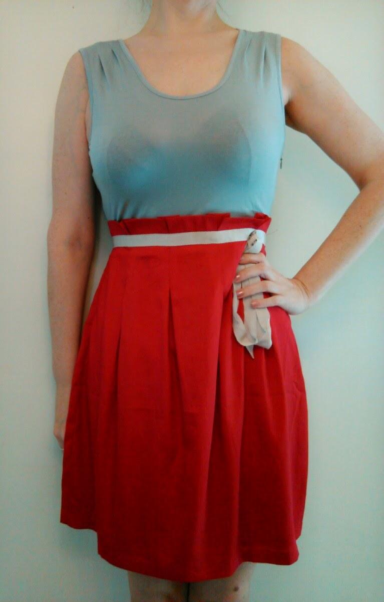 Stitch Fix Pink Martini Moises Colorblock Sleeveless Dress in Grey