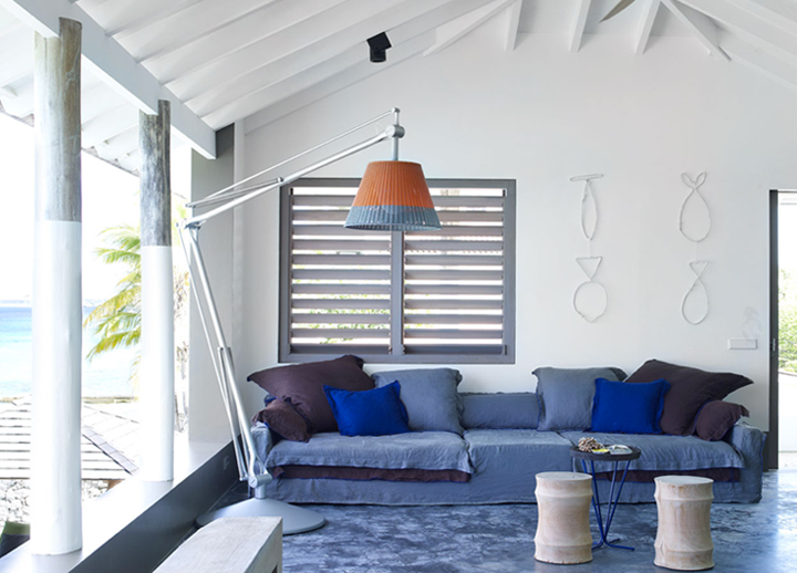 White caribbean beach villa interior design for Beach villa interior design