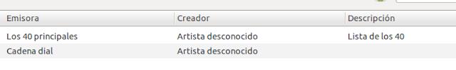 Añadir emisorias de radio Españolas a Banshee
