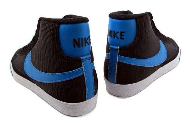 nike blazers blue and black