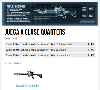 Misión 7: Juega a Close Quarters (Ballesta con mira)