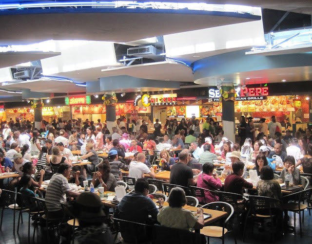 Busy food court in the Mall