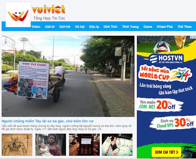 Theme Blogger Tin Tức Giống VuiViet.Com V7.3, Template Blogspot Tin Tuc Vui Việt Đẹp