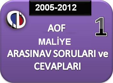 Maliye 1 sınıf arasınav soruları 2005 2012