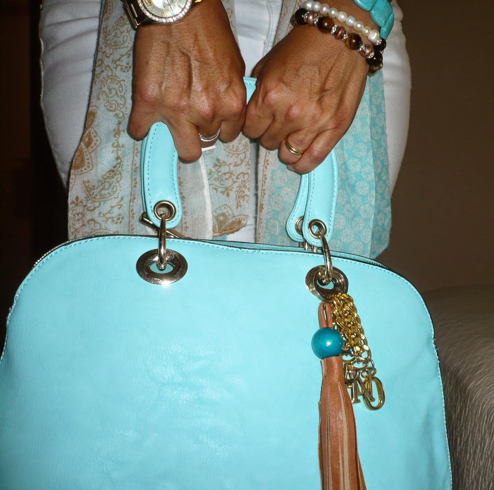 bolso alma turquesa