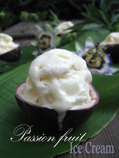gelato al frutto della passione