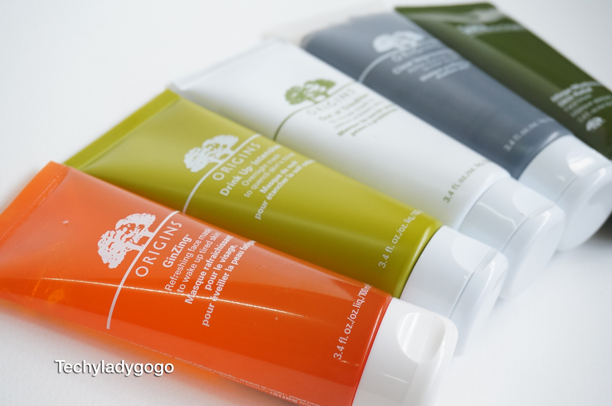 ORIGINS MIX & MASK รีวิวมาส์กออริจินส์ ครบทั้ง 5 สูตร GinZing, Drink Up, Out of Trouble, Clear Improvement, Mega-Mushroom Skin Relief