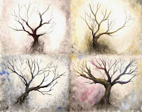 tree art, tree painting, watercolor tree