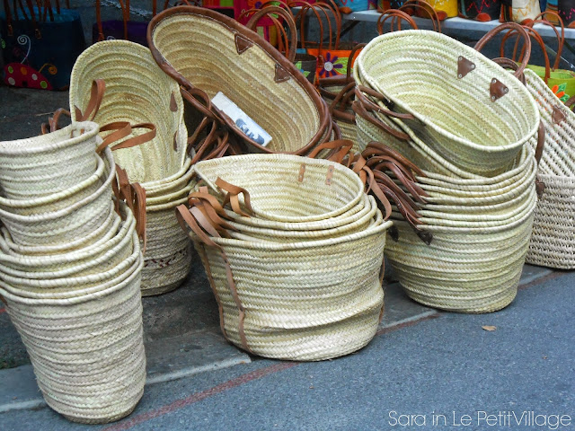 straw baskets Apt Market Provence France