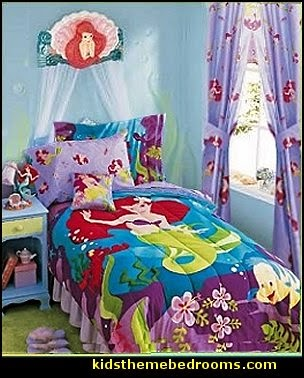 mermaid bedroom decor. Little Mermaid Ariel Theme Bedroom  decor Disney The mermaid Decorating theme bedrooms Maries Manor