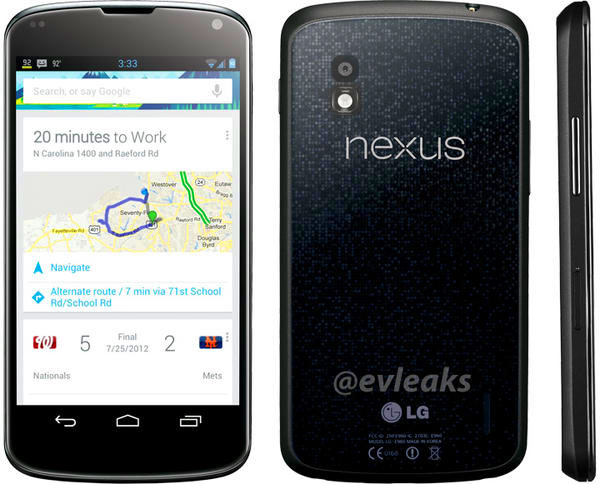 LG Nexus 4 smart phone launches with Android 4.2, True-HD IPS display, 8MP camera, Quad-core processor