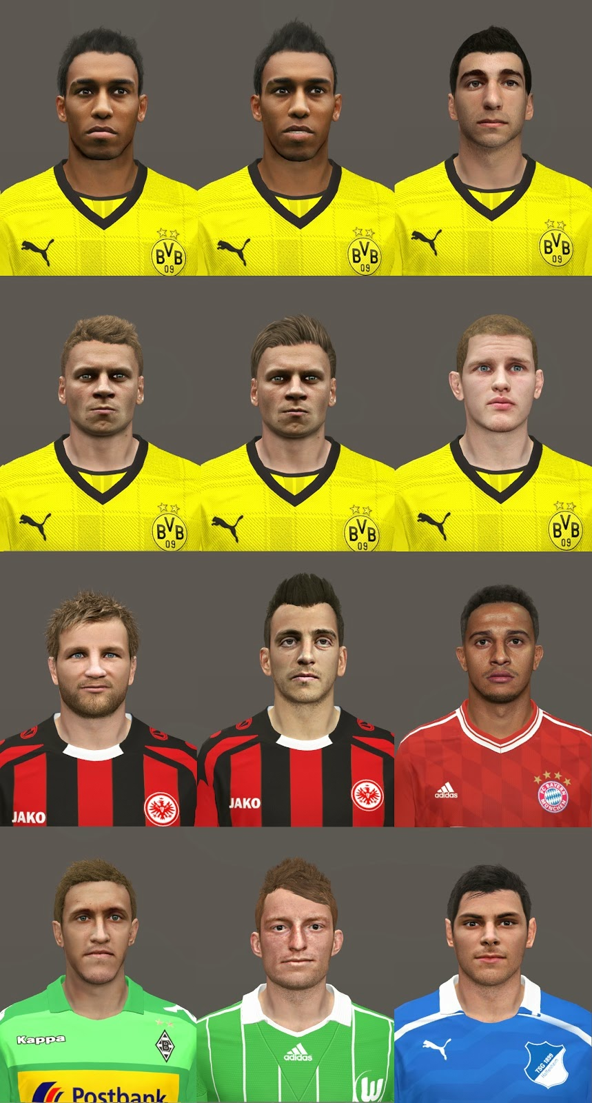 PES 2014 Bundesliga Facepack v2 by michi