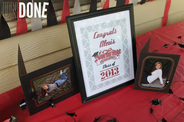 {The UNDONE Blog} Red and Black Graduation Decorations 2013