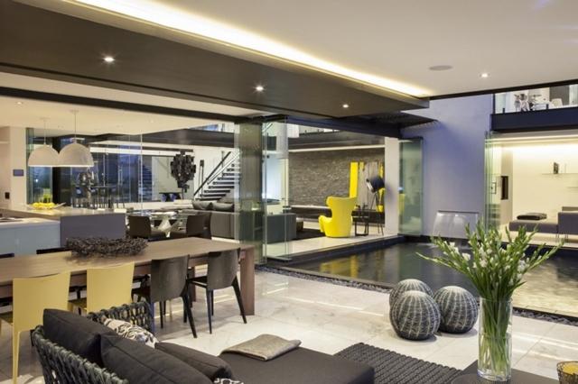 Photo of dark interiors