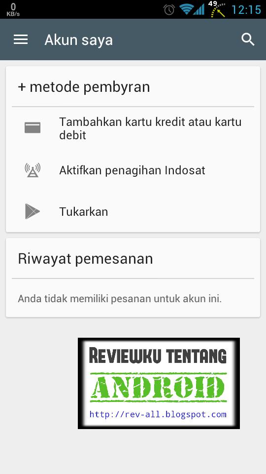 2 Tap AKTIFKAN PENAGIHAN INDOSAT (rev-all.blogspot.com) cara menambahkan tagihan akun indosat di playstore Android