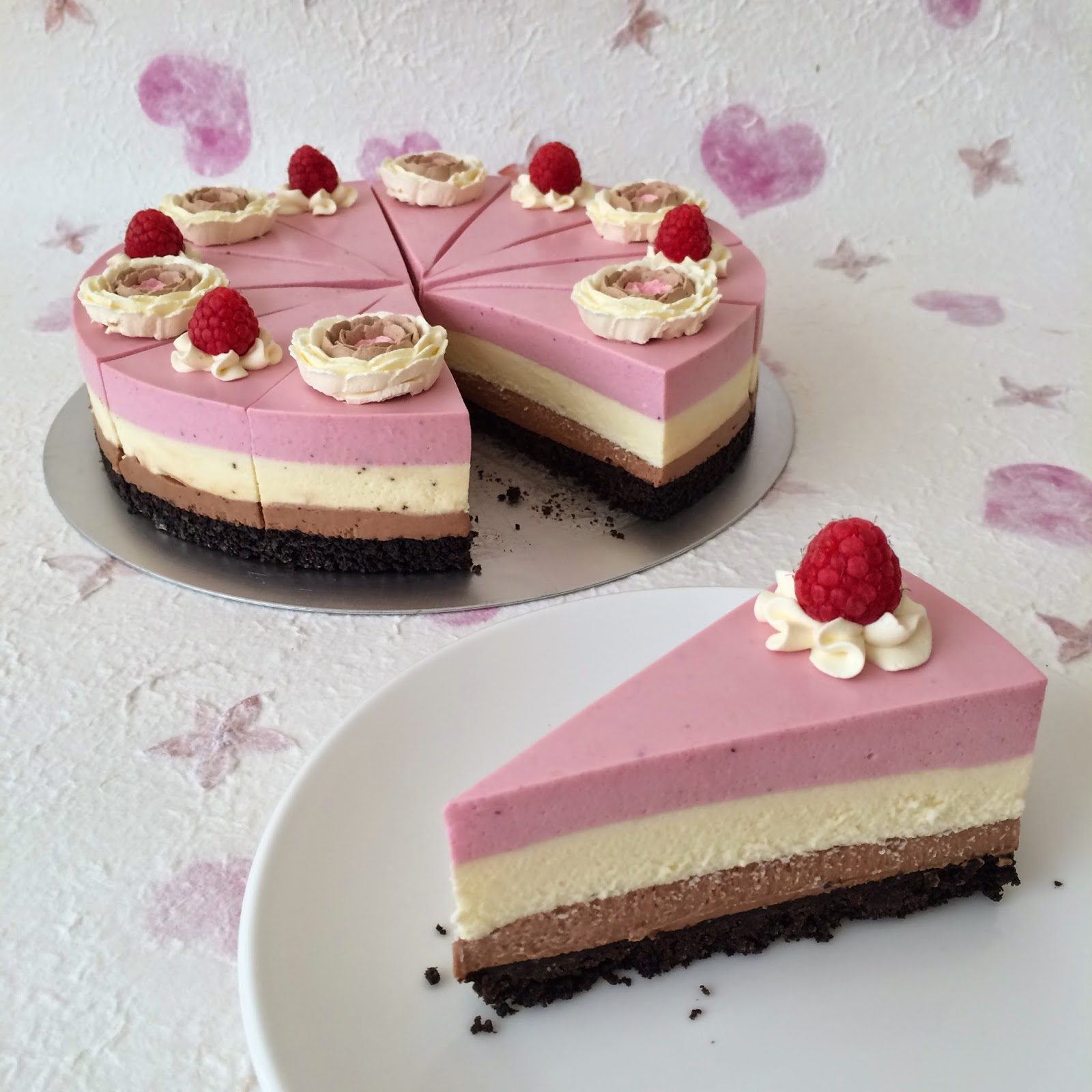 favourite cheesecakes i've ever made! Been thinking about Neapolitan ...
