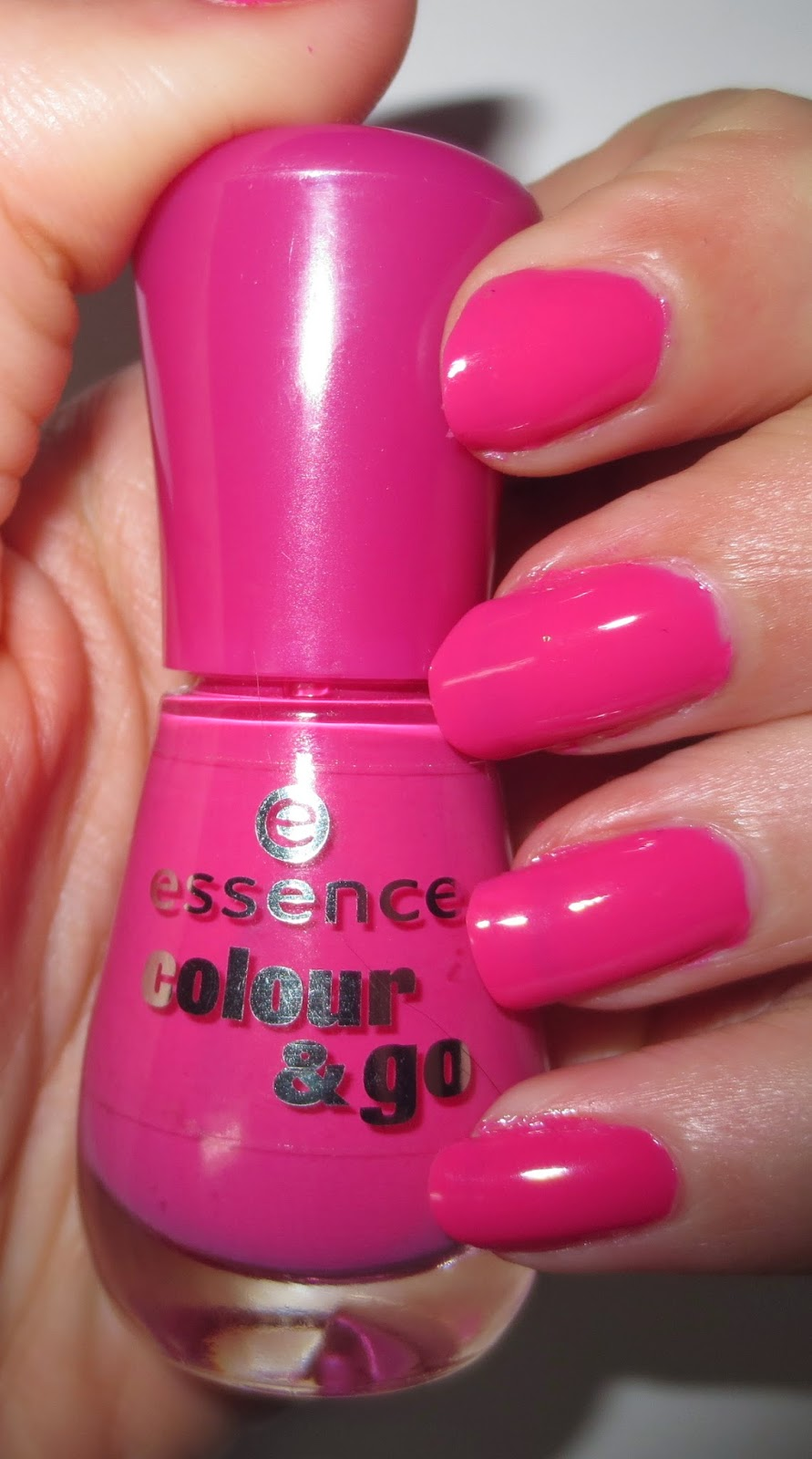 essence's colour & go nail polish in ultimate pink