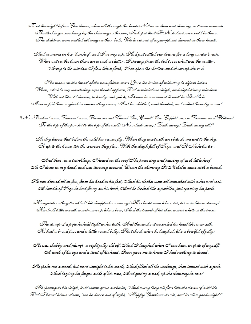 graphic about Twas the Night Before Christmas Poem Printable called Sweetly Sped: No cost Printable Xmas Present Wrap