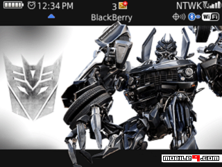 Tema BlackBerry 8520 Transformers Download Tema BlackBerry 8520 Gratis 2012