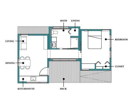 Plano de casa peque a 50 metros cuadrados for Planos de oficinas pequenas