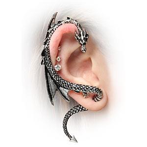 Boucle d'oreille Dragon