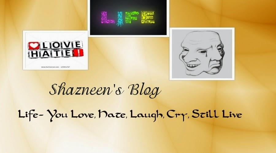 Shazneen's Blog