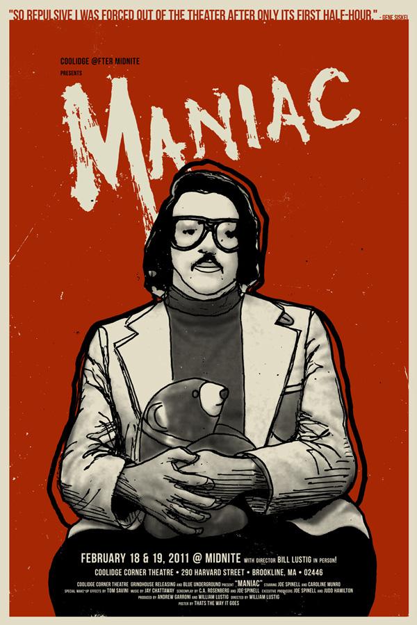 Elijah wood maniac poster