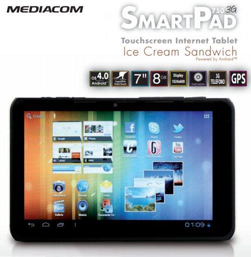Tablet Android dual sim con modulo 3G da Mediacom con display da 7 pollici