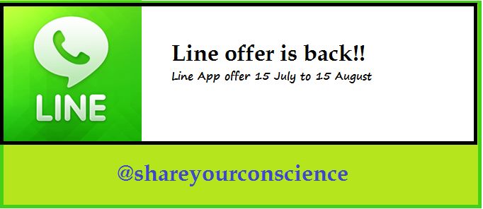 Line Recharge offer is back get recharge of 130 Rs. for indian users.