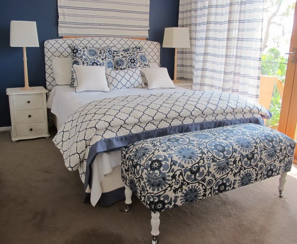 Made in Sydney any size, shape or fabric our bedheads and end of bed stools are premium quality. We also make curtains, blinds, bed throws, valances, quilts and cushions.
