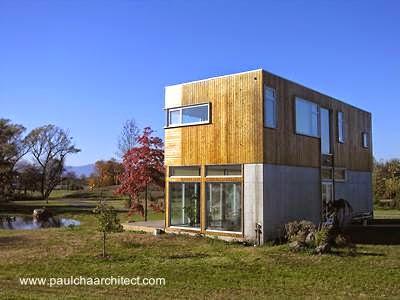 Arquitectura de Casas: Casa de madera y concreto en Estados Unidos.